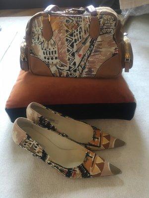 Prada Nylon Tasche mit passenden Schuhen