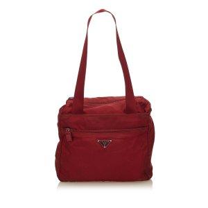 Prada Tote red nylon