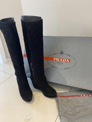 PRADA Original Stiefel Echtleder Calzature Donna Gr. 39