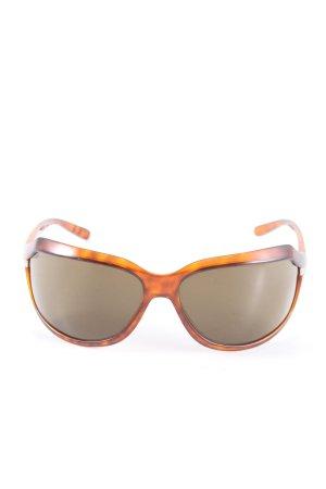 Prada Occhiale da sole ovale arancione chiaro-marrone motivo animale