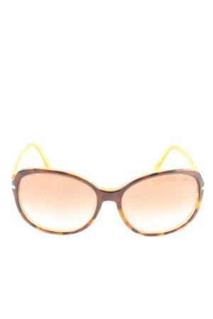 Prada Lunettes de soleil ovales brun-orange clair style décontracté