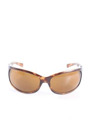 Prada Occhiale da sole ovale marrone-arancione chiaro stile casual
