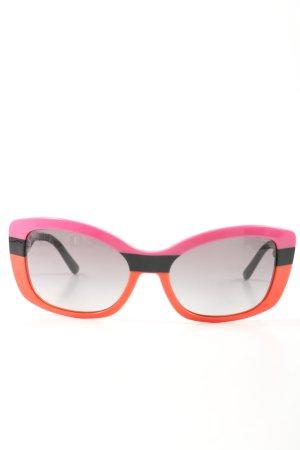 Prada Gafas de sol ovaladas estampado a rayas look casual