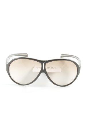 Prada Oval Sunglasses dark brown embossed logo