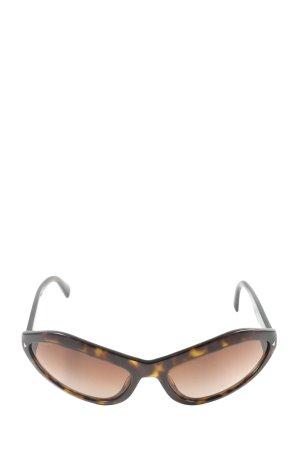 Prada Occhiale da sole ovale marrone Colore sfumato elegante