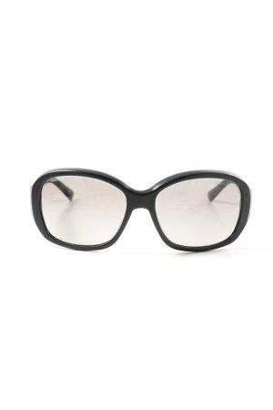 Prada Gafas de sol ovaladas negro look casual