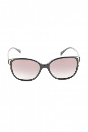 Prada Panto bril zwart-roze casual uitstraling