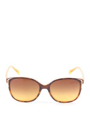 Prada Okulary w stylu panto czarny-bladożółty Abstrakcyjny wzór