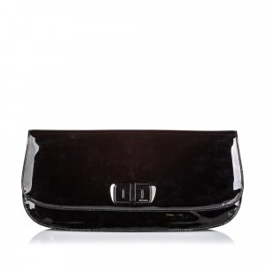 Prada Patent Leather Clutch Bag