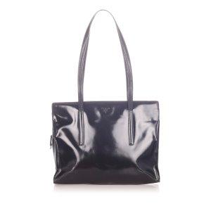 Prada Shoulder Bag dark brown imitation leather