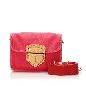 Prada Pattina Canvas Crossbody Bag
