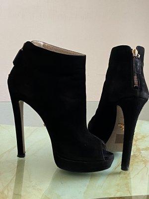 Prada peep toe ankle boots