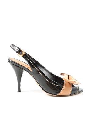 Prada Peeptoe Pumps schwarz-braun Elegant