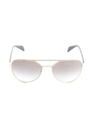 Prada Occhiale da pilota nero-oro