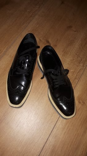 Prada Oxfords white-black