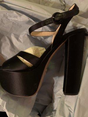 Prada Plateau High heels schwarz neu  Grösse 40
