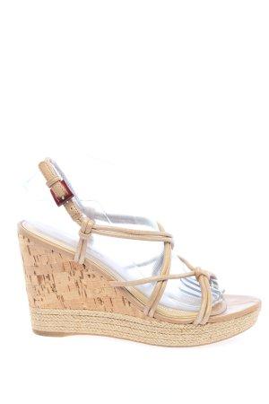 Prada Platform Sandals cream casual look