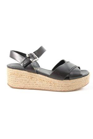 Prada Sandalo con plateau nero stile casual
