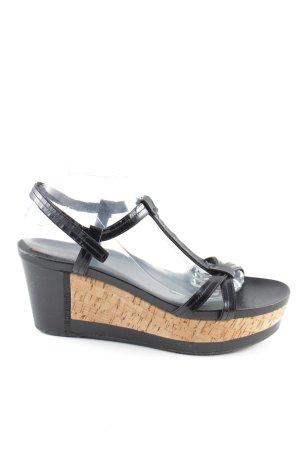 Prada Platform High-Heeled Sandal black business style