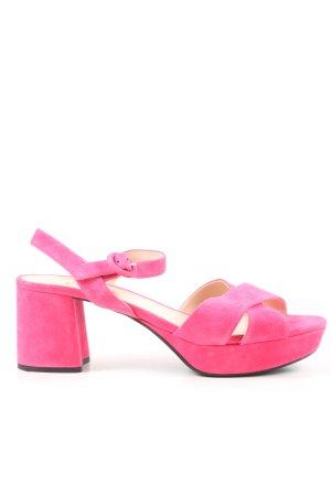 Prada Sandały na grubym obcasie różowy W stylu casual