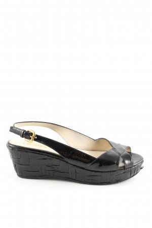 Prada Sandalias de tacón con plataforma negro look casual