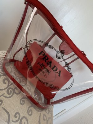 PRADA Plexiglas Handbag Red