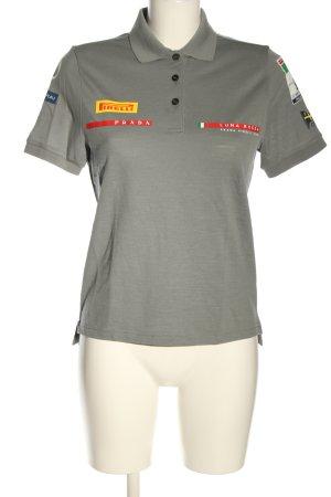 "Prada Polo-Shirt ""Luna Rossa Poloshirt aus Woll-Piqué"" hellgrau"