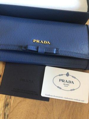 Prada Portemonnaie dunkelblau unbenutzt