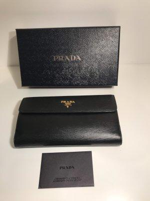 PRADA Portemonnaie, schwarzes Leder, top Zustand