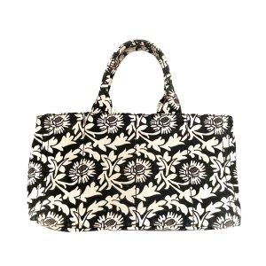 Prada Printed Canapa Handbag