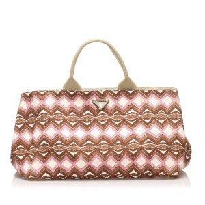Prada Printed Canvas Handbag