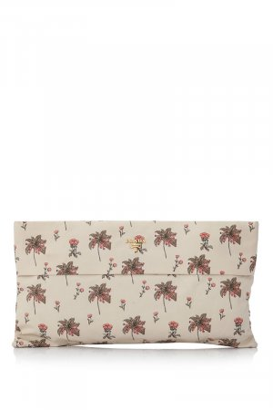 Prada Printed Faille Clutch