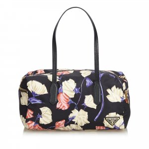 Prada Printed Nylon Shoulder Bag