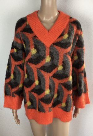 Prada, Pullover, 38/40 (It. 44), Orange-Grau-Gelb, neu, € 1.000,-