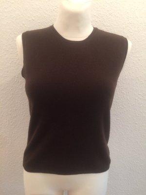 Prada Fine Knitted Cardigan black brown