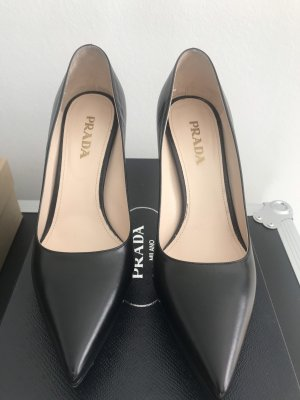Prada High Heels black leather