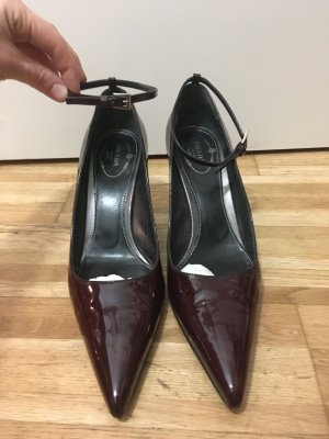 Prada Slingback Pumps bordeaux leather