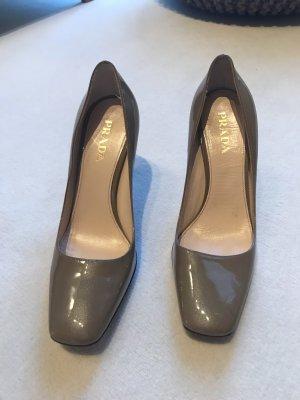 Prada High Heels sand brown leather