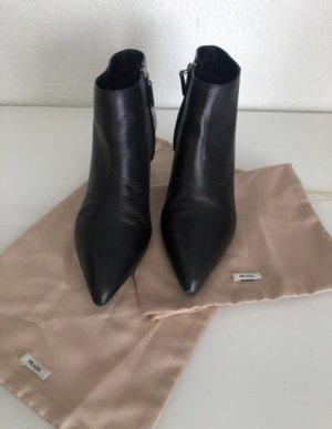 Prada Zipper Booties black
