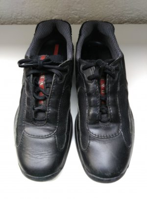 Prada Lace Shoes black-red leather