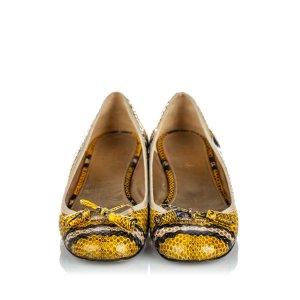 Prada Python Leather Ballerina