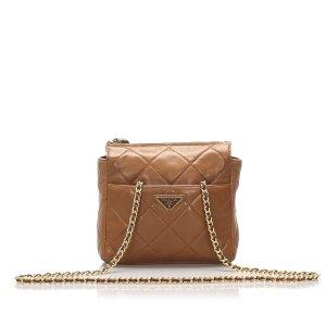 Prada Quilted Cervo Crossbody Bag