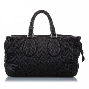 Prada Quilted Leather Satchel