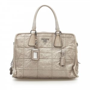 Prada Quilted Nappa Leather Satchel