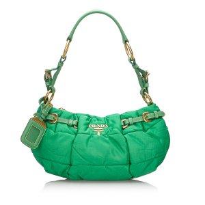 Prada Handtas groen Nylon