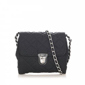 Prada Quilted Nylon Chain Shoulder Bag