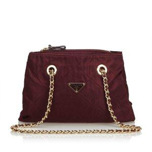 Prada Quilted Nylon Chain Tote Bag
