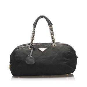 Prada Quilted Tessuto Handbag