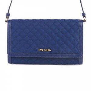 Prada Quilted Tessuto Wallet on Strap