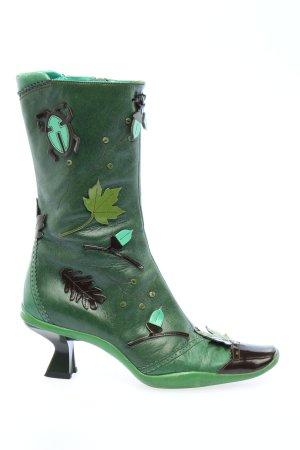 Prada Zipper Booties green elegant